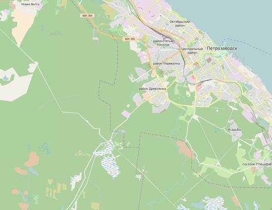 Территория газопровода Волхов-Петрозаводск